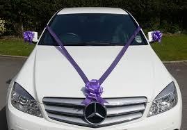 car ribbon cadbury purple wedding car decoration kit large bows 7m ribbon