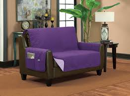 purple sofa slipcover amazon com bella kline reversible sofa furniture protector with