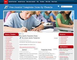 joomla education templates high school free joomla 1 5 template by themza
