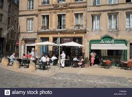 chambre city diners outside three cafes in place de chambre to the stock