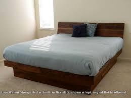 Flat Platform Bed Hardwood Storage Beds European Sleep Design Sacramento Folsom Ca