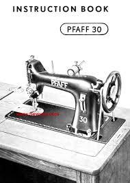 pfaff 30 manual free