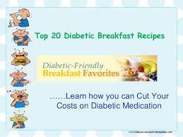 diabetic breakfast menus american diabetic breakfast recipes
