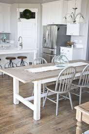 Dining Tables  Gray Round Dining Table Set Grey Dining Room Table - Distressed white kitchen table