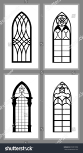set gothic windows various designs isolated stock vector 559851958 set of gothic windows of various designs isolated on white background