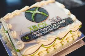 achievement unlocked xbox 360 wedding cake makes a game of marriage