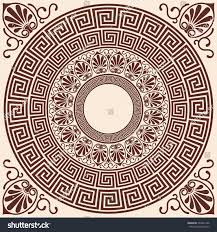 vector greek style background circular ornament stock vector
