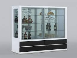 china cabinet wall china display cabinet recessed mounted