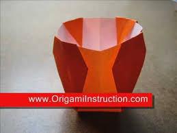 Simple Origami Vase - easy origami vase