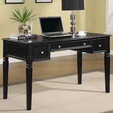 Modern Home Desks Rich Black Finish Modern Home Office Desk W Nickel Hardware