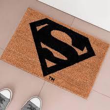 zerbino di cocco zerbino superman dc comics fibra di cocco 60 x 40 cm tappeto casa