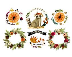 fall wreath clipart thanksgiving clipart wagon with
