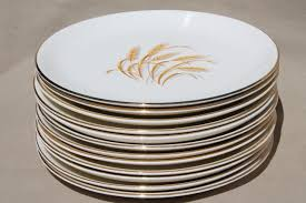 vintage homer laughlin golden wheat china gold wheat sheaf dinner