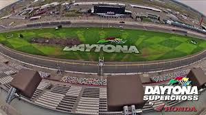 motocross race track design daytona supercross by honda course construction time lapse youtube
