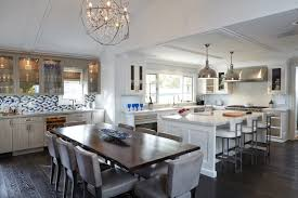 long kitchen island inspire home design