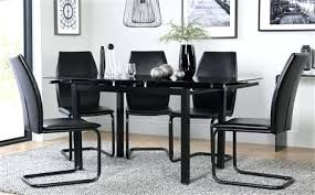 Black Glass Extending Dining Table 6 Chairs Dining Table And 6 Chairs Dining Room Superb Dining Room Table