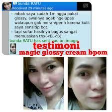 Wajah Magic Glosy magic glossy whitening krim malam