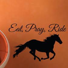 eat pray ride wall vinyl decal sticker kids room mural zoom