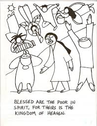 bible jesus the marvelous beatitudes coloring pages coloring