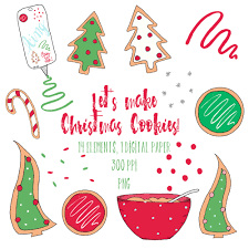 christmas cookie clipart christmas clipart holiday clipart