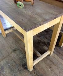 vintage laboratory table un restored mustard vintage