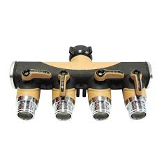 4 way valve splitter hose adapter spigot faucet connector for use