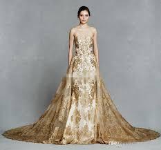 gold color bridesmaid dresses gold color embroidery detachable royal wedding dresses 2017