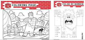 3 fun downloadable wreck ralph coloring sheet u2013 night owl mama