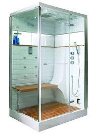 cabine de avec siège intégré cabine de hammam avec porte pivotante chromé homebain
