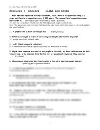 homework 5 answers astronomy 115 with likkel at university of
