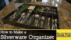 Flatware Tray Organizer How To Make A Silverware Organizer Youtube