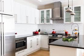 kitchen claire staszak clean lines modern condo modern black and