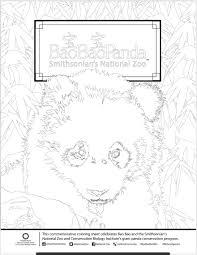 bye bye bao bao commemorative coloring page smithsonian u0027s