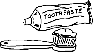 toothbrush with toothpaste coloring sheet tooth colouring page