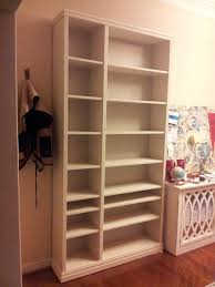 billy white bookcase diy ikea billy bookcase hack using wood trim molding my decor