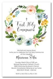 communion invitations wreath holy communion invitations