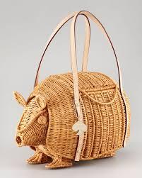 kate spade new york armadillo wicker shoulder bag in natural lyst