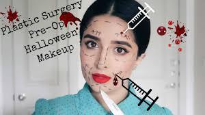 pre op plastic surgery halloween makeup tutorial youtube