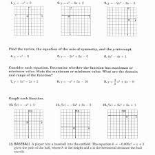 graphing quadratic functions worksheet answers worksheet resume
