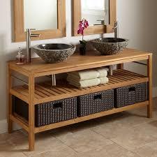 Bathroom Wicker Furniture Bathroom Decorating Ideas Using Brown Wicker Bathroom Her