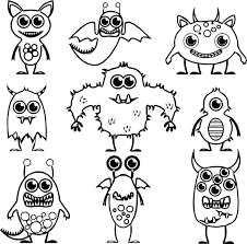 monster alien coloring pages wecoloringpage
