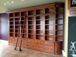Library Ladders Large Bookcase With Ladder Rolling Dfcafabb Tikspor