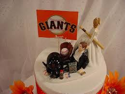 baseball cake topper groom wedding cake topper san francisco giants baseball fan