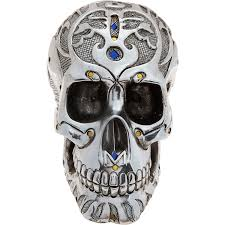 silver tone skull ornament tk maxx home decor paint colours