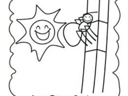 16 itsy bitsy spider coloring pages bitsy spider colouring pages