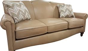 Curved Front Sofa by Leathersofa Chic Homefurnishings Camel Contemporaryfurniture