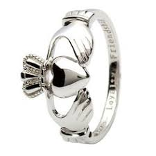 friendship rings meaning silver claddagh loyalty friendship ring with 10k gold heart
