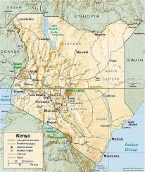 geographical map of kenya magadi kenya
