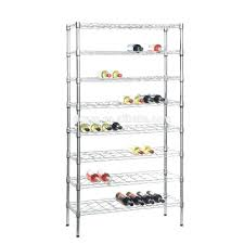 wine racks chrome wine rack 8 shelves stores and displays up to 72