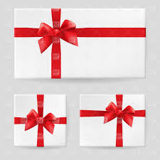 gift boxes with bow white gift box with a ribbon and bow royalty free vector